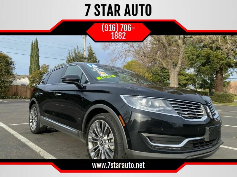 2016 Lincoln MKX for sale at 7 STAR AUTO in Sacramento CA