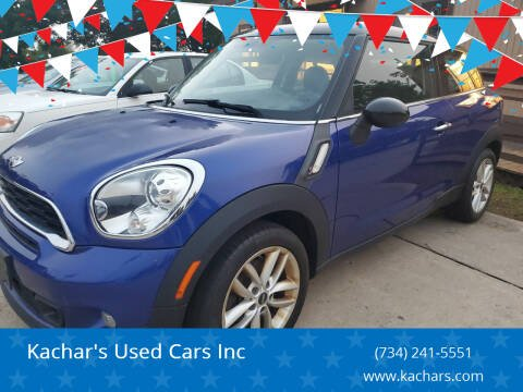 2013 MINI Paceman for sale at Kachar's Used Cars Inc in Monroe MI