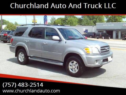 2002 Toyota Sequoia for sale at Churchland Auto and Truck LLC in Portsmouth VA