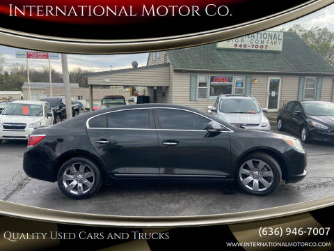 2012 Buick LaCrosse for sale at International Motor Co. in St. Charles MO