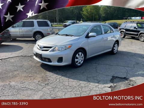 2013 Toyota Corolla for sale at BOLTON MOTORS INC in Bolton CT