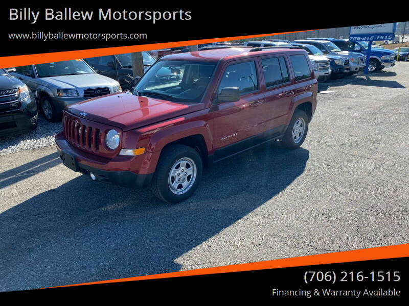 2012 Jeep Patriot for sale at Billy Ballew Motorsports in Dawsonville GA