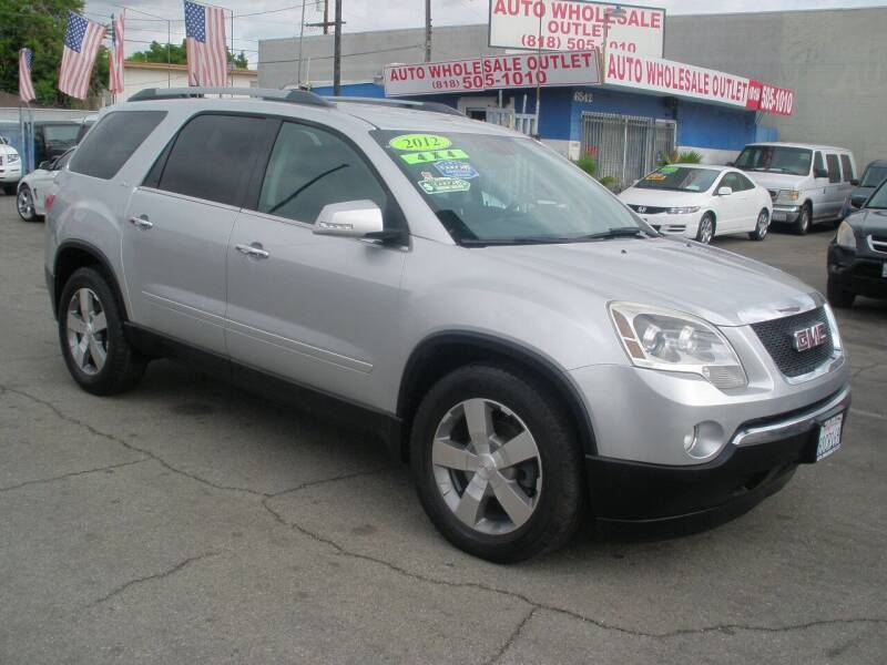 2012 GMC Acadia for sale at AUTO WHOLESALE OUTLET in North Hollywood CA
