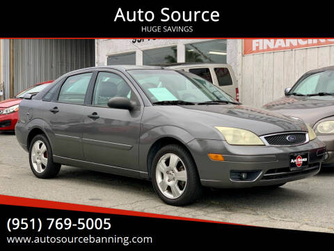 2007 Ford Focus for sale at Auto Source in Banning CA