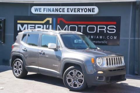 2016 Jeep Renegade for sale at Meru Motors in Hollywood FL