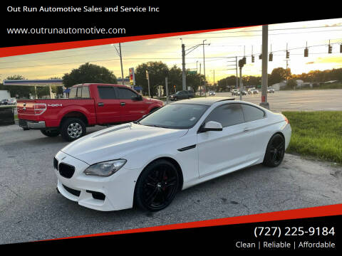 2012 BMW 6 Series for sale at Out Run Automotive Sales and Service Inc in Tampa FL