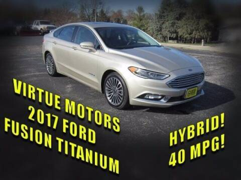 2017 Ford Fusion Hybrid for sale at Virtue Motors Used in Darlington WI