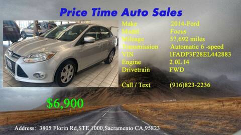 2014 Ford Focus for sale at PRICE TIME AUTO SALES in Sacramento CA
