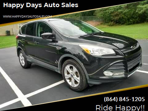 2014 Ford Escape for sale at Happy Days Auto Sales in Piedmont SC