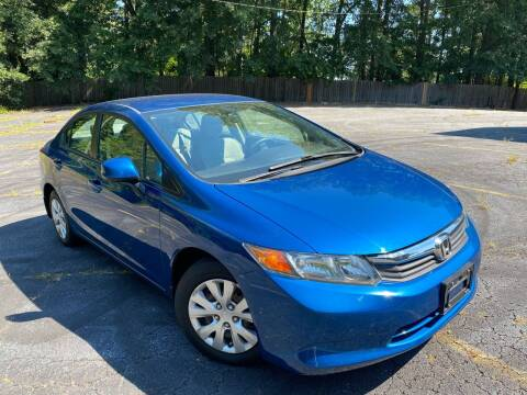2012 Honda Civic for sale at Peach Auto Sales in Smyrna GA