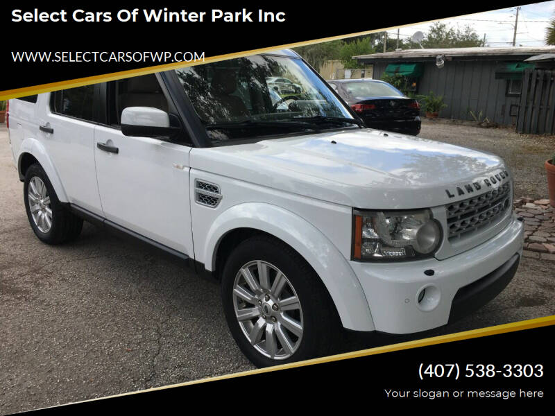 2012 Land Rover LR4 for sale at Select Cars Of Winter Park Inc in Orlando FL
