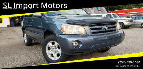 2006 Toyota Highlander for sale at SL Import Motors in Newport News VA