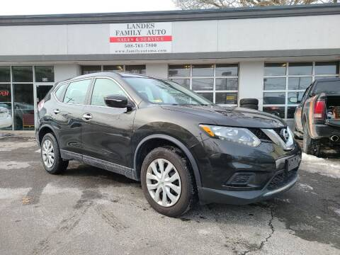 2015 Nissan Rogue for sale at Landes Family Auto Sales in Attleboro MA