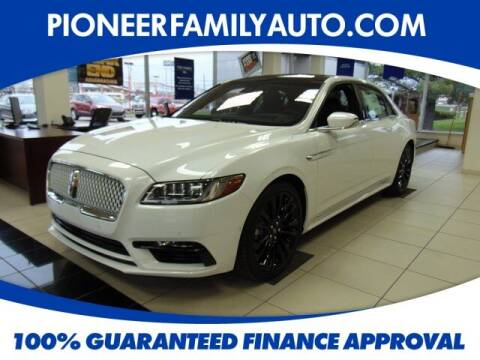 2020 Lincoln Continental for sale at Pioneer Family auto in Marietta OH