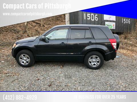 2010 Suzuki Grand Vitara for sale at Compact Cars of Pittsburgh in Pittsburgh PA
