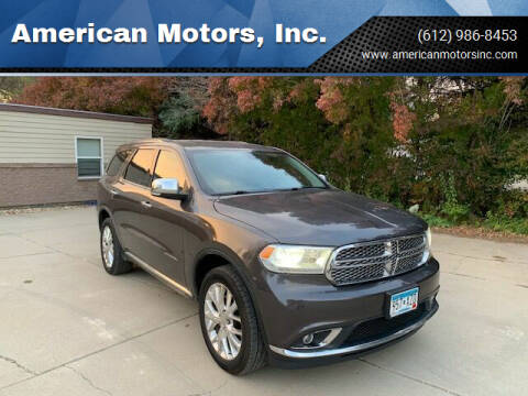 2014 Dodge Durango for sale at American Motors, Inc. in Farmington MN