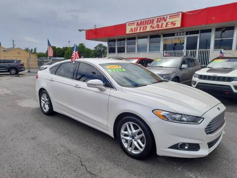 2014 Ford Fusion for sale at Modern Auto Sales in Hollywood FL