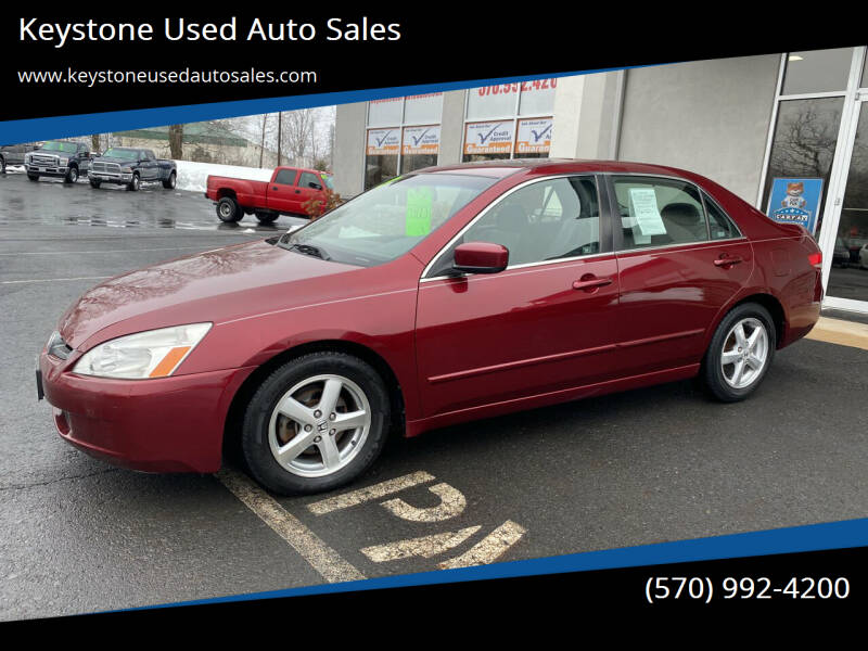 2003 Honda Accord for sale at Keystone Used Auto Sales in Brodheadsville PA