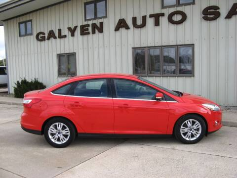 2012 Ford Focus for sale at Galyen Auto Sales Inc. in Atkinson NE