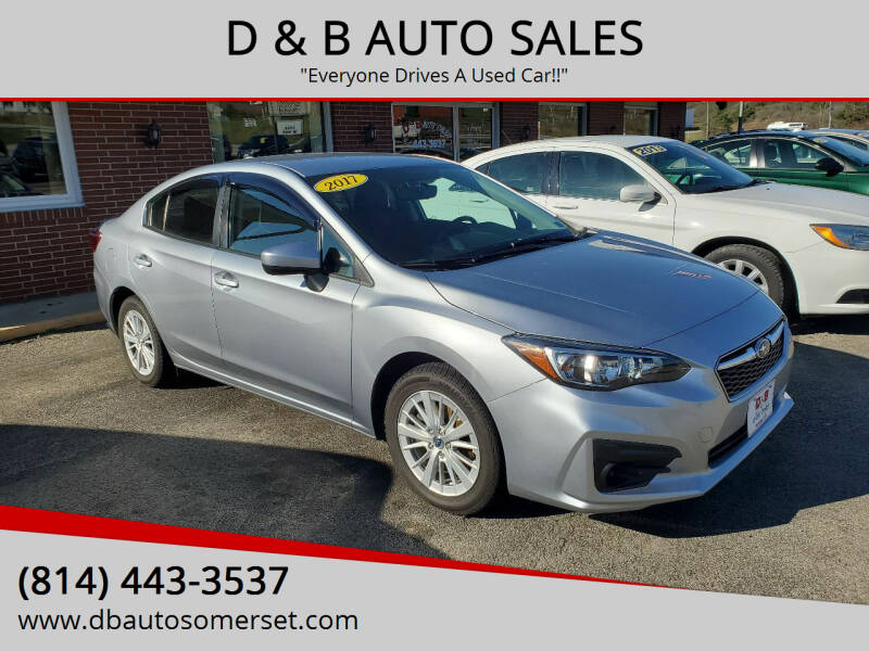 2017 Subaru Impreza for sale at D & B AUTO SALES in Somerset PA