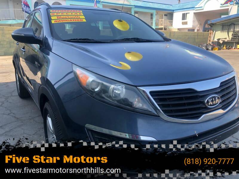 2012 Kia Sportage for sale at Five Star Motors in North Hills CA