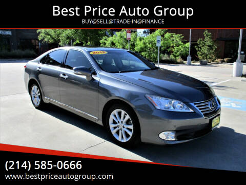 2012 Lexus ES 350 for sale at Best Price Auto Group in Mckinney TX