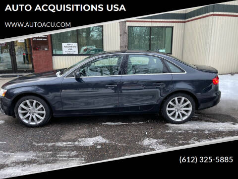 2013 Audi A4 for sale at AUTO ACQUISITIONS USA in Eden Prairie MN