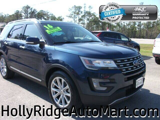 2016 Ford Explorer for sale at Holly Ridge Auto Mart in Holly Ridge NC