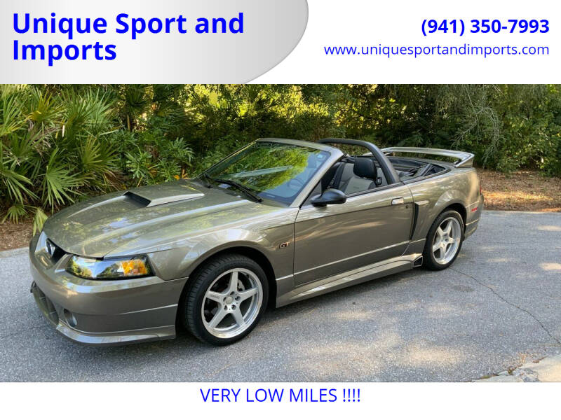 2002 Ford Mustang for sale at Unique Sport and Imports in Sarasota FL
