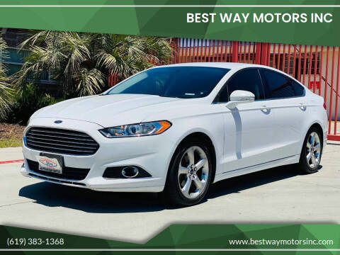 2016 Ford Fusion for sale at BEST WAY MOTORS INC in San Diego CA