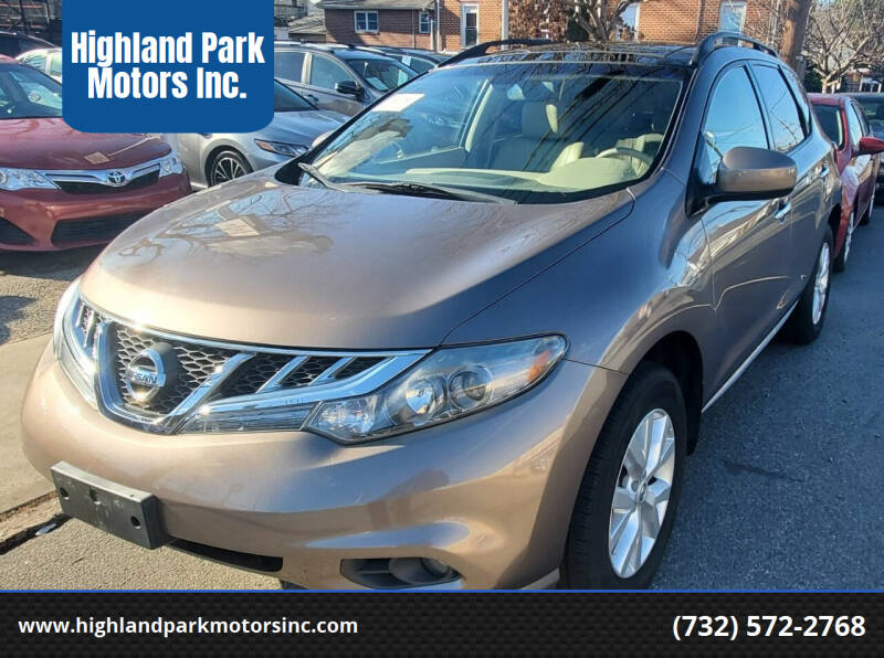 2013 Nissan Murano for sale at Highland Park Motors Inc. in Highland Park NJ