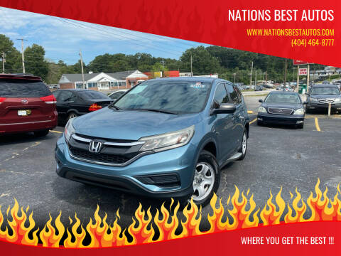 2015 Honda CR-V for sale at Nations Best Autos in Decatur GA