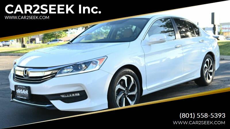 2016 Honda Accord for sale at CAR2SEEK Inc. in Salt Lake City UT