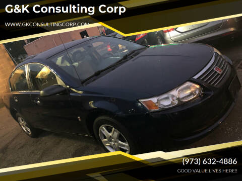 2007 Saturn Ion for sale at G&K Consulting Corp in Fair Lawn NJ