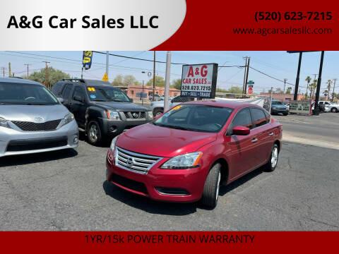 2015 Nissan Sentra for sale at A&G Car Sales  LLC in Tucson AZ