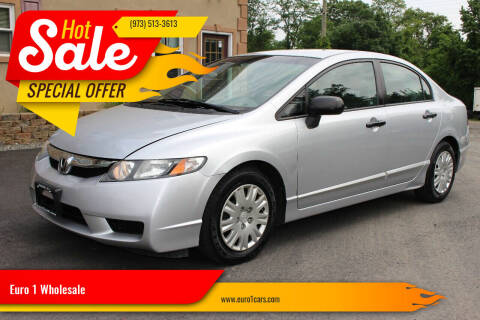 2010 Honda Civic for sale at Euro 1 Wholesale in Fords NJ