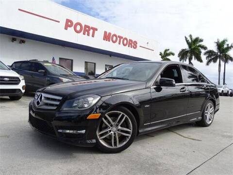 2012 Mercedes-Benz C-Class for sale at Automotive Credit Union Services in West Palm Beach FL