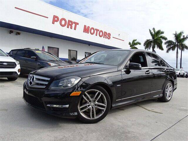 2012 Mercedes-Benz C-Class for sale at Automotive Credit Union Services in West Palm Beach FL