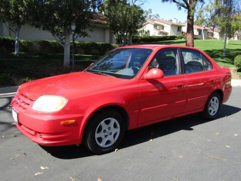 2005 Hyundai Accent for sale at E MOTORCARS in Fullerton CA