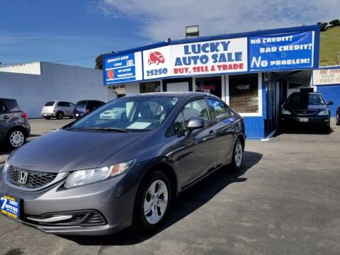 2013 Honda Civic for sale at Lucky Auto Sale in Hayward CA