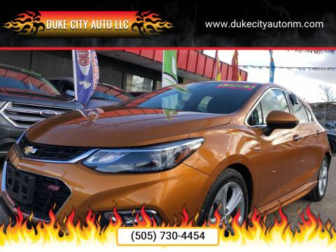 2017 Chevrolet Cruze for sale at Duke City Auto LLC in Gallup NM
