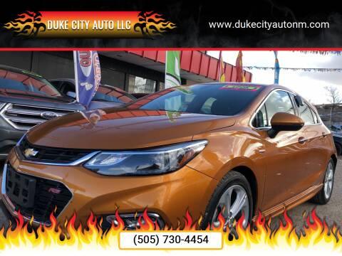 2017 Chevrolet Cruze for sale at Duke City Auto LLC in Gallup NM