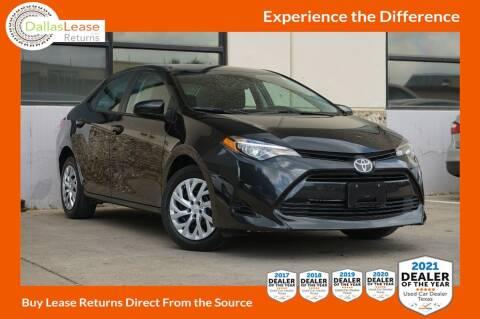 2019 Toyota Corolla for sale at Dallas Auto Finance in Dallas TX