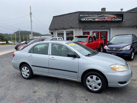 2006 Toyota Corolla for sale at Maple Street Auto Center in Marlborough MA