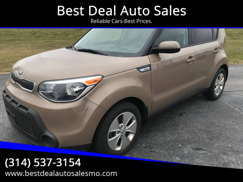 2016 Kia Soul for sale at Best Deal Auto Sales in Saint Charles MO