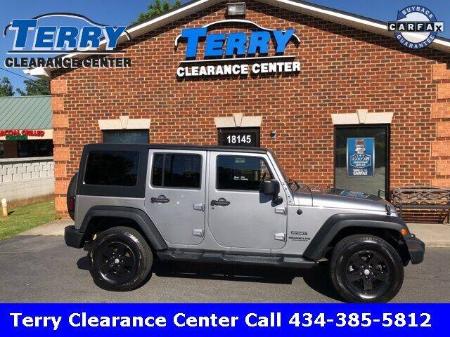 2014 Jeep Wrangler Unlimited for sale at Terry Clearance Center in Lynchburg VA