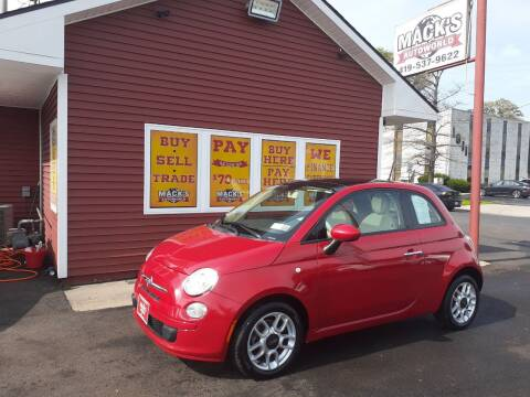 2013 FIAT 500 for sale at Mack's Autoworld in Toledo OH