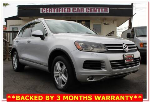 2012 Volkswagen Touareg for sale at CERTIFIED CAR CENTER in Fairfax VA
