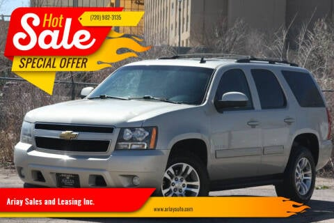 2013 Chevrolet Tahoe for sale at Ariay Sales and Leasing Inc. - Pre Owned Storage Lot in Glendale CO