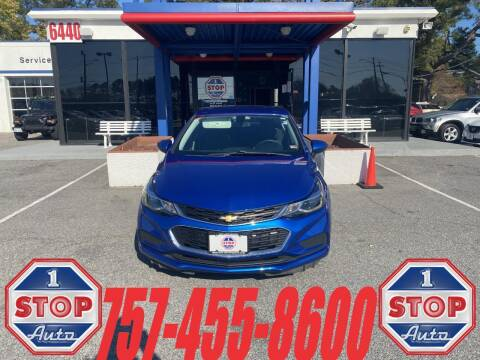 2017 Chevrolet Cruze for sale at 1 Stop Auto in Norfolk VA